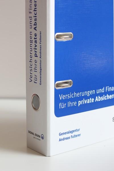 Versicherungsordner - Privat mit 2-farbigem Eindruck Ihrer Agenturdaten